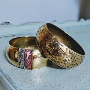 Vintage Brass Bangle Bundle!